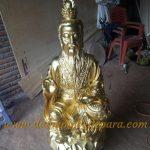 Patung Ukiran Kayu Jati Emas