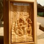 Ukiran Relief Prosesi Jalan Salib