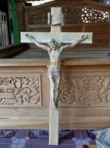 Patung Salib Yesus Kayu Jati