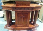 Mimbar Podium Jati Gereja Kristen