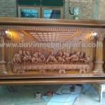 Ukiran Relief Perjamuan Kudus Malam Terakhir Gereja