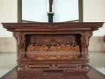 Meja Altar Ukiran Perjamuan Panjang 2 Meter