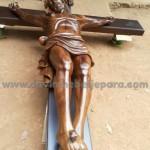 Salib Gereja Katolik Kayu Jati Tinggi 4m