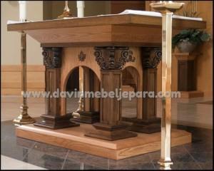 Jual Meja Altar Ukiran Gereja Kristen Protestan