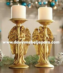 Tempat Lilin Ukiran Malaikat