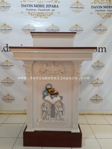Mimbar Minimalis Gereja Jakarta Custom Design