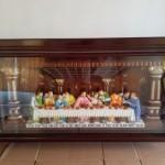 Relif Perjamuan Kudus Bingkai Kaca