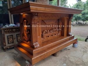 Harga Meja Altar Ukiran Relief Perjamuan