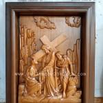 Ukiran 14 Perhentian Kebangkitan Yesus Stasi Jalan Salib