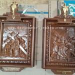 14 Relief Perhentian Jalan Salib Ukiran Salib Piala Anggur